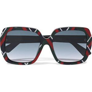 Gucci Square-frame Printed Acetate Sunglasses